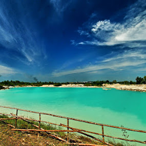 Blue Lake by Sigit Setiawan - Landscapes Waterscapes ( kaolin lake, blue sky, blue lake, indonesia, lake, belitung )