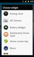 Screenshot of Galatasaray Saat Widget