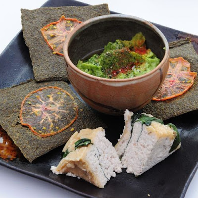 Wild Garlic dehydrated Chia Crackers by Kirsty Wright