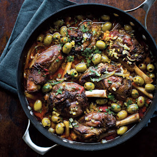 Slow-Roasted Lamb Shanks with Olives
