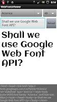 Screenshot of Web Fonts Viewer