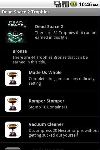 玩免費媒體與影片APP|下載Dead Space 2 Trophies app不用錢|硬是要APP