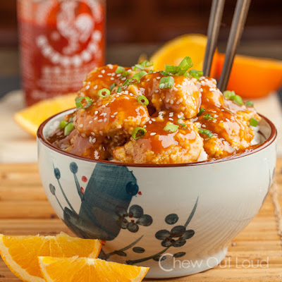 Orange Chicken with Sriracha