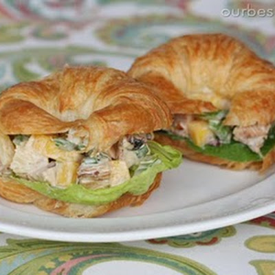 Teriyaki Chicken Salad Sandwiches