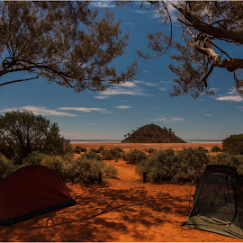 Lake Ballard Campsite by David Shaw - Landscapes Deserts ( inside australia, tents, australia, campsite, lake ballard, western australia,  )