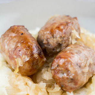 Slow Coked Sausage and Sauerkraut