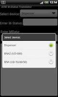 Screenshot of ATM M-Status Translator Lite