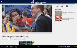 Screenshot of NBC 6 South Florida