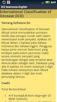 Screenshot of ICD 10 Indonesia-English