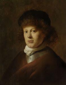 RIJKS: Jan Lievens: Portrait of Rembrandt Harmensz van Rijn 1628