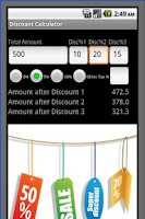 Screenshot of Multi Discount Sale Calculator