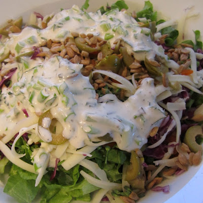 "Junk Food Salad with Scratch ""Ranch"""