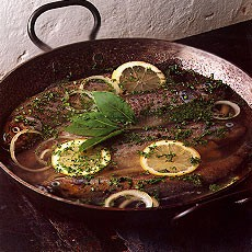 Poached Trout with Herbs