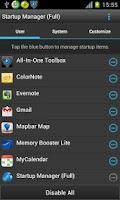 Screenshot of Startup Manager (Free)