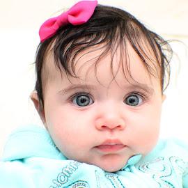 jozel by Samy Ayoub - Babies & Children Babies ( white, pink, bow, baby, jozel, hair, eyes,  )