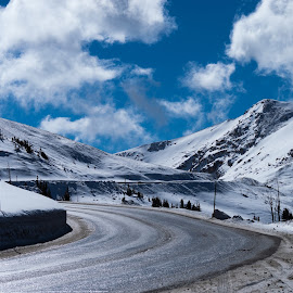 Loveland Pass by Levi Oelrich - Landscapes Mountains & Hills ( clouds, mountains, 14er, up high, colorado, road,  )