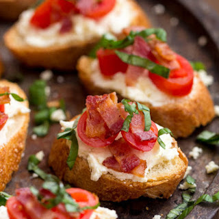 Creamy Feta and Bacon Bruschetta