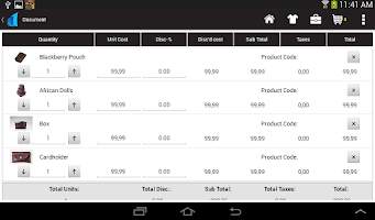Screenshot of Onsight Mobile Sales App