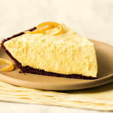 Lemon Chiffon Pie with Gingersnap Crust