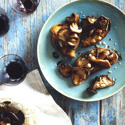 Mushrooms and Sage with Grilled Bread