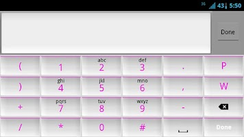 Screenshot of White and Pink Keyboard Skin