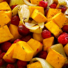Baked Butternut Squash With Cranberries