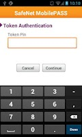 Screenshot of SafeNet MobilePASS