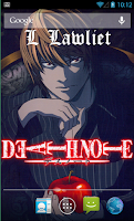 Screenshot of Death Note Live Wallpaper