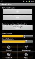 Screenshot of Volume Button