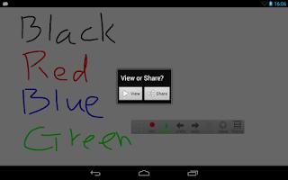 Screenshot of Whiteboard Cast