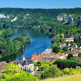 Les Andelys beutiful little town on the Loira river  by Marco Menchini - Landscapes Travel ( france, travel )