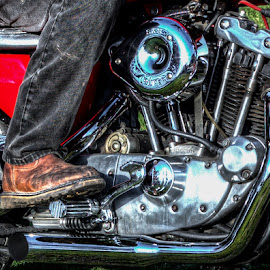 Long Ride by Jim Anderson - Transportation Motorcycles ( bike, road, close up, classic )