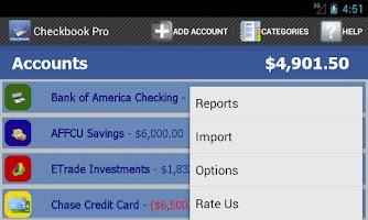 Screenshot of Checkbook Pro Trial