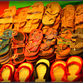 Slippers by Prasanta Das - Artistic Objects Clothing & Accessories ( slippers, display )