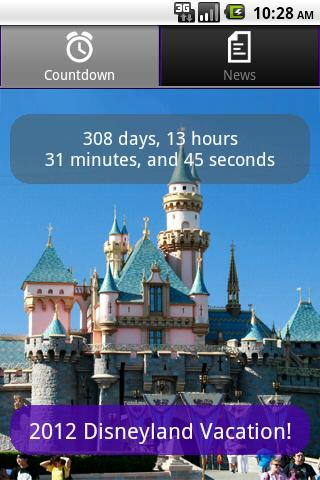 Disneyland Vacation Countdown