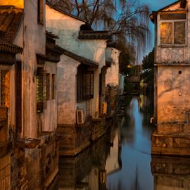 Suzhou (China) 5  by Vlad Meytin - City,  Street & Park  Neighborhoods ( suzhou, art photography, vladsm, neighborhood, canal, art pictures, photography, meytin, 中國, vlad meytin, k.h. imporium co., 苏州, night, www.flickr.com/vmwelt, china, 中国, vladsm.com )