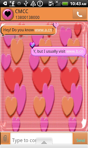 GO SMS THEME CandyHearts1