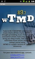 Screenshot of WTMD-FM