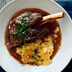 Braised Lamb Shanks with Gremolata and Baked Polenta