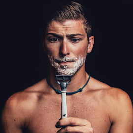 Self portrait.  by Tyler Thompson - People Portraits of Men