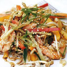 Oriental Rice Salad With Mixed Peppers And Prawns