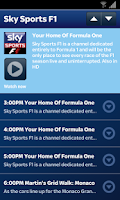 Screenshot of Sky Sports Mobile TV
