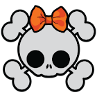 GLX Theme: Cute Haloween Skull icon