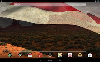 Screenshot of 3D Yemen Flag Live Wallpaper