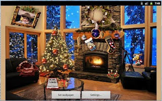 Screenshot of Christmas Fireplace LWP Free