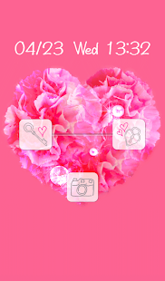 Cute wallpaper★Love carnation - screenshot