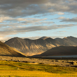 Bliss by Rishabh Asthana - Landscapes Mountains & Hills ( mountains, lake, sunrise, landscape, filed,  )