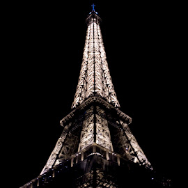 Eiffel Tower - Paris France by Jessica Sacavage - Buildings & Architecture Statues & Monuments ( paris, eiffel tower, tower, night, france, evening,  )