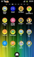 Screenshot of Colorful Go Launcher Ex Theme