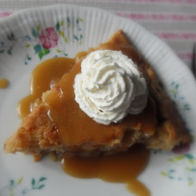 Apple Pie Cake with a Brown Sugar and Rum Sauce